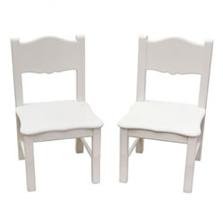 Classic White Extra Chairs (Set of 2)