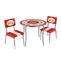 Retro Racers Table and Chairs Set