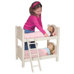 White Doll Bunk Bed