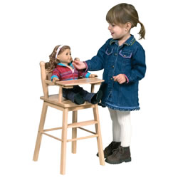 Natural Doll High Chair