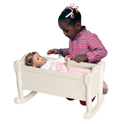 White Doll Cradle