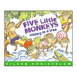 Five Little Monkeys Sitting In A Tree - Paperback