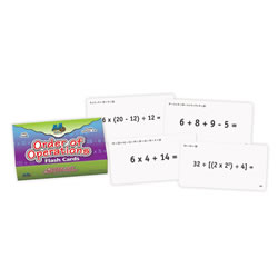 Order of Operations Flash Cards
