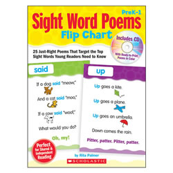 Sight Word Poems Flip Chart