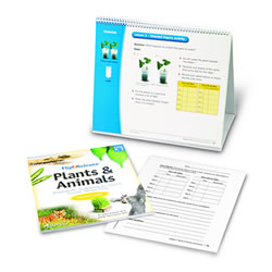 Flip4Science® Teacher's Guide and Center Book - Plants and Animals