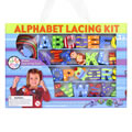 Uppercase Alphabet Lacing Beads