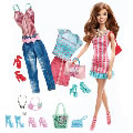 Brunette Barbie® Doll & Fashion Set with Glam & Sweetie Accessories