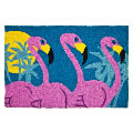 Jellybean Rug - Tropical Flamingos - Washable