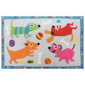 Jellybean Rug - Puppy Party (C) - Washable