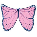 Pink Monarch Butterfly Wing