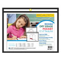Horizontal Reusable Dry Erase Pocket - Black (12 x 9)