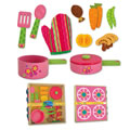 Pretend Play Wooden Cooking Set