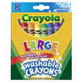 Crayola® Large 8 Count Washable Crayons