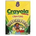 Crayola® 8-Pack Multicultural Crayons - Standard (Single Box)