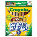 Crayola® 8-Pack Multicultural Washable Markers (Single Box)
