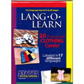 Lang-O-Learn Multilingual Photo Cards: 20 Card Clothing Set