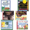 Grades K - 5. This 6 book set covers topics including temperature, humidity, wind speed and pressure, how meteorologists gather data for their forecasts, and the origin and nature of tornadoes.