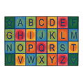 Simple Alphabet Blocks Rug
