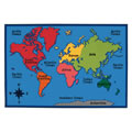 World Map Rug - 4' x 6' Rectangle