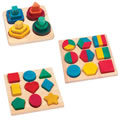 Eco-Friendly Wooden Shapes Sorting Set