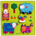 Farm Wooden Chunky Puzzle with Felt Base