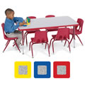 "Adjustable Rectangular Toddler Table (24"" x 48"")"