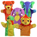 Friendly Animal Puppet Set (Set of 5)