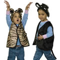 Kitty Cat & Bear Reversible Vest