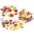 Breakfast, Lunch and Dinner Food Sets