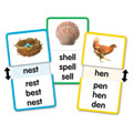 Short E Word Families Slide & Learn Flash Cards