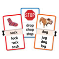 Short O Word Families Slide & Learn Flash Cards