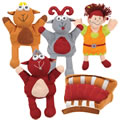 Three Billy Goats Gruff Puppets and Props