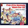 Five Little Monkeys Wash The Car (Paperback)