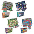 Grades 4 - 5. These traditional board games reinforce different key skills to promte reading comprehension. Set of 4 games includes: Space Voyage, Super Speedway, Robot Roundup, and Jungle Journey.