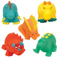 5 Large Dino Bath Buddies
