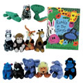 Rumble In The Jungle Book & Puppet Set