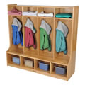 Solid Ash 4 Section Coat Locker