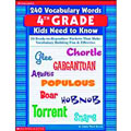 240 Vocabulary Words for 4th graders