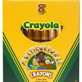Crayola® 8-Pack Multicultural Crayons - Large (Single Box)