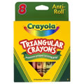 Crayola® 8-Pack Anti-Roll Triangular Crayons (Single Box)