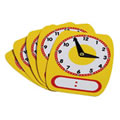 Write-On Wipe-Off Clock Faces