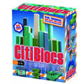 CitiBlocs Wooden Building Blocks - Cool Colors (50 Piece Set)