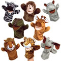 Safari Animal Puppet Set (set of 8)